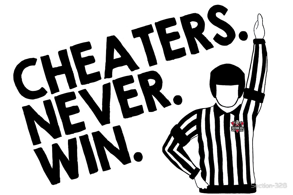 cheater-never-win-logo