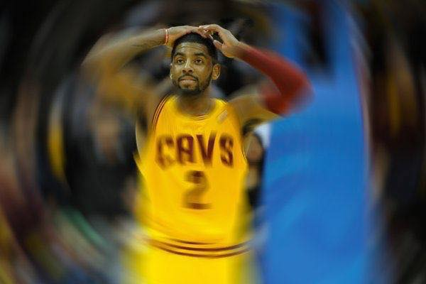 Kyrie Irving spins